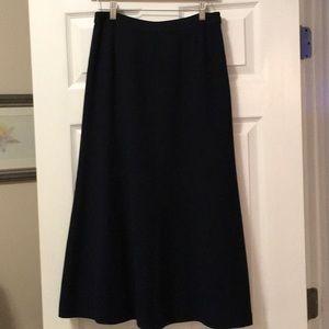 Ralph Lauren Navy A-Line Wool Maxi Skirt size 6